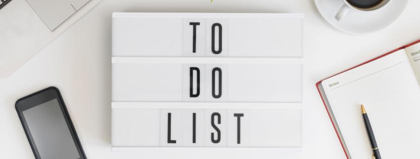 Mensen doen bijna nooit wat er op hun to do lijst staat.